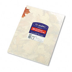 Geographics 53064 Design Paper, 24 Lbs., Crushed Leaves, 8-1/2 X 11, Ivory, 100/Pack