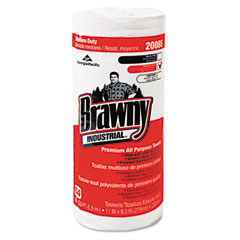 Georgia Pacific GEP20085 Brawny All Purpose Perforated Dry Wipes, 11 x 9-3/8, White, 84/Roll, 20/Carton