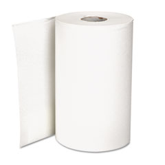 Georgia Pacific 26610 Hardwound Roll Paper Towel, Nonperforated, 9 X 400 Ft., White, 6/Carton