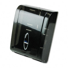 Georgia Pacific 5665001 C-Fold/Multifold Towel Dispenser, 11 X 5 1/4 X 15 2/5, Translucent Smoke