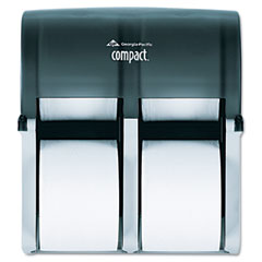 Georgia Pacific 56744 Four Roll Coreless Tissue Dispenser, 11 3/4 X 6 9/10 X 13 1/4, Smoke