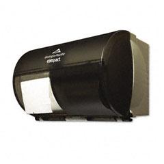 Georgia Pacific 56784 Coreless Double Roll Tissue Dispenser, 10 1/8 X 6 3/4 X 7 1/8,Smoke/Gray