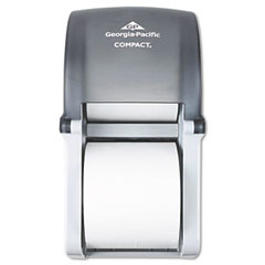 Georgia Pacific 56790 Vertical Double Roll Coreless Tissue Dispenser, 6 X 6.5 X 13.5, Smoke