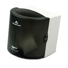 Georgia Pacific 58201 Center Pull Hand Towel Dispenser, 10-7/8W X 10-3/8D X 11-1/2H, Smoke