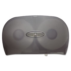 Georgia Pacific 59209 Jumbo Jr. Two-Roll Bathroom Tissue Dispenser, 20 8/25 X 6 X 12 19/25, Smoke