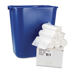 BWK SH313006WP Hi-Density Can Liners, 24 X 31, 6 Mic, Clear, 300/Carton