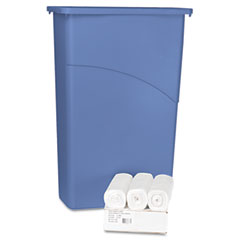 BWK SH467512WP Hi-Density Can Liners, 40 X 46, 12 Mic, Clear, 75/Carton