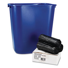 BWK SL2315035WP Low-Density Can Liners, 24 X 23, .35 Mil, Black, 150/Carton