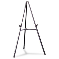 "Ghent 19250 Triumph Display Easel, Adjust 36"" To 62"" High, Gray"