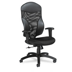 Global 1950-4 Tye Mesh Management Series High-Back Swivel/Tilt Chair, Black