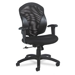 Global 1951-4 Tye Mesh Management Series Mid-Back Swivel/Tilt Chair, Black