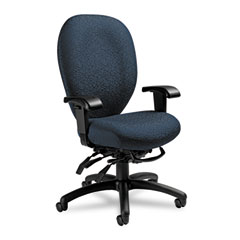 Global 27803T607 Mallorca Series High-Back Multi-Tilt Chair, 20-1/2 X 20-1/2 X 41-1/2, Blue