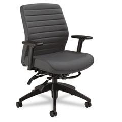 Global 28523SO47 Aspen Series Mid-Back Multi-Tilt Chair, Onyx Vinyl