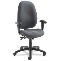 Global 31403BKPB04 Malaga Series High-Back Multi-Tilter Chair, Acrylic/Polyester, Stone
