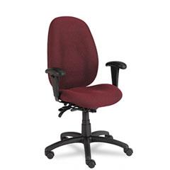 Global 31403BKPB07 Malaga Series High-Back Multi-Tilter Chair, Acrylic/Polyester, Rhapsody