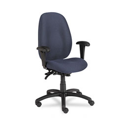 Global 31403BKPB08 Malaga Series High-Back Multi-Tilter Chair, Acrylic/Polyester, Ocean