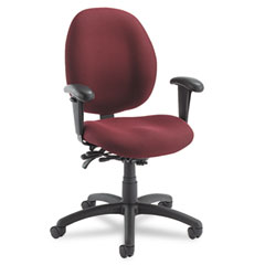 Global 31413BKPB07 Malaga Low-Back Multi-Tilter Swivel Chair, Acrylic/Polyester, Rhapsody
