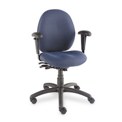 Global 31413BKPB08 Malaga Low-Back Multi-Tilter Swivel Chair, Acrylic/Polyester, Ocean