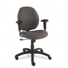 Global 31443NBKS110 Graham Pneumatic Ergo-Tilter Swivel/Tilt Chair, Black Fabric
