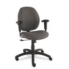 Global 31443NBKS110 Graham Pneumatic Ergo-Tilter Swivel/Tilt Chair, Black Fabric
