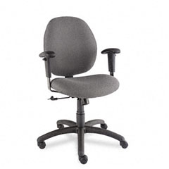 Global 31443NBKS111 Graham Pneumatic Ergo-Tilter Swivel/Tilt Chair, Graphite Fabric