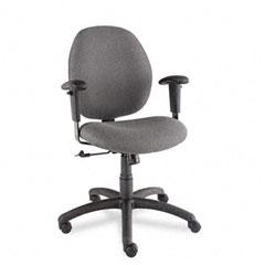 Global 31443NBKS111 Graham Pneumatic Ergo-Tilter Swivel/Tilt Chair, Graphite Fabric