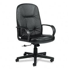 Global 4003BK450550 Arno Executive Leather High-Back Swivel/Tilt Chair, Black