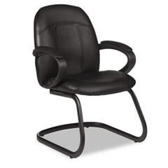 Global 4522450550 Tamiri Series Armchair, 25 X 26-1/2 X 37, Black Leather And Frame