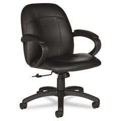 Global 4527450550 Tamiri Series Low-Back Tilt Chair, 25 X 26-1/2 X 39, Black Leather/Frame