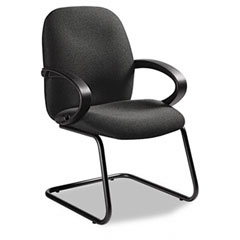 Global 4565BKIM11 Enterprise Series Side Arm Chair, Olefin Fabric, Gray