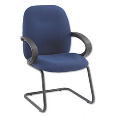 Global 4565BKIM14 Enterprise Series Side Arm Chair, Olefin Fabric, Navy