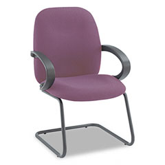 Global 4565BKIM52 Enterprise Series Side Arm Chair, Olefin Fabric, Burgundy