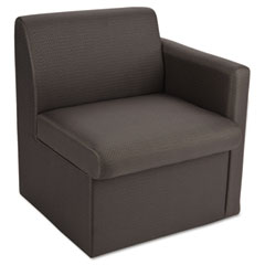 Global 7870LQL11 Braden Single Seat Reception Chair W/Left Arm, 24 X 27-1/2 X 30, Charcoal Gray