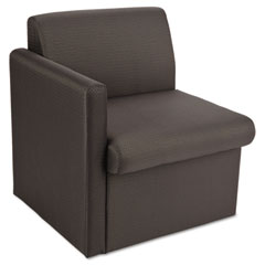Global 7870RQL11 Braden Single Seat Reception Chair W/Right Arm, 24 X 27-1/2 X 30, Charcoal Gray