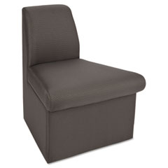 Global 7872QL11 Braden Corner Unit Chair W/60-Degree Outside, 24 X 27-1/2 X 30, Charcoal Gray