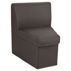 Global 7873QL11 Braden Corner Unit Chair W/30-Degree Outside, 24 X 24 X 30, Charcoal Gray