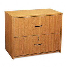Global G2036LFHVO Genoa Series Two-Drawer Lateral File, 36W X 20D X 29H, Oak