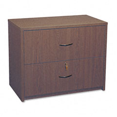 Global G2036LFMAF Genoa Series Two-Drawer Lateral File, 36W X 20D X 29H, Mahogany