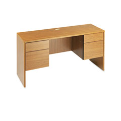 Global G2060CKHVO Genoa Series Kneespace Credenza, 60W X 20D X 29H, Oak