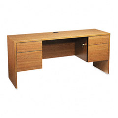 Global G2066CKHVO Genoa Series Kneespace Credenza, 66W X 20D X 29H, Oak