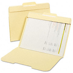 Globe-Weis 153L-P50 Secure File Folders, Top Tab, Letter, Manila, 50/Box