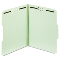 Globe-Weis 24934 Folders, Two Inch Expansion, Two Fasteners, 1/3 Cut, Letter, Green, 25/Box