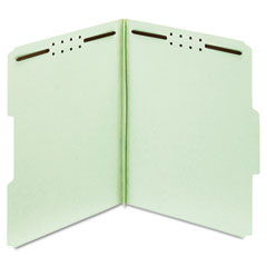 Globe-Weis 24944 Folders, Three Inch Expansion, Two Fasteners, 1/3 Cut, Letter, Green, 25/Box