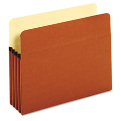 Globe-Weis 63224 Standard File Pockets, Redrope, 3 1/2 Inch Expansion, Letter, Brown