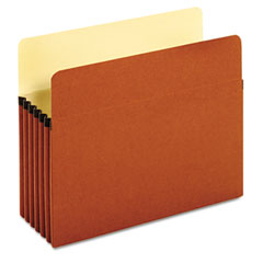 Globe-Weis 63234 Standard File Pockets, Redrope, 5 1/4 Inch Expansion, Letter, Brown, 10/Box
