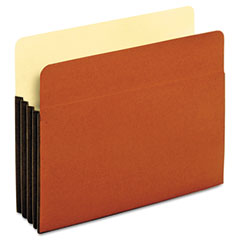 Globe-Weis 63264 Standard File Pockets, Tyvek, 3 1/2 Inch Expansion, Letter, Brown, 10/Box