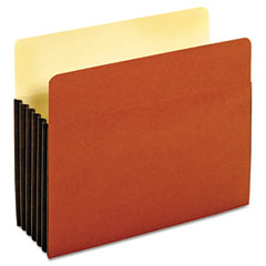 Globe-Weis 63274 Drop Front Expanding File Pocket, Top Tab, 5 1/4 Inch, Letter, Brown, 10/Box