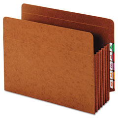 Globe-Weis 63790 Heavy-Duty Expanding File Pocket, End Tab, 5 1/4 Inch, Letter, Brown, 10/Box