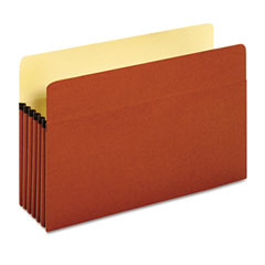 Globe-Weis 64234 Standard Expanding File Pocket, Top Tab, 5 1/4 Inch, Legal, Brown, 10/Box
