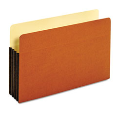 Globe-Weis 64264 Drop Front Expanding File Pocket, Top Tab, 3 1/2 Inch, Legal, Brown, 10/Box